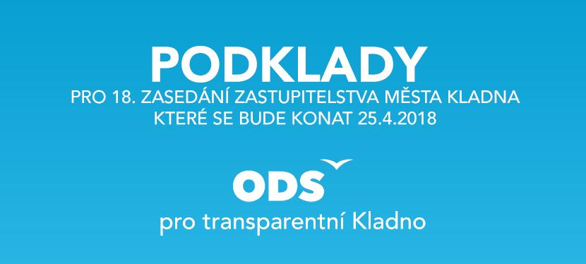 Podklady pro 18. zasedání zastupitelstva městaKladna