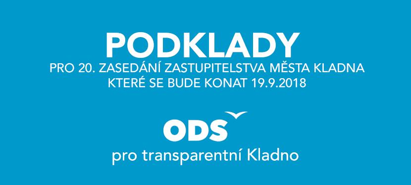 Podklady  pro 20. zasedání zastupitelstva městaKladna