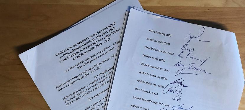 Zastupitelé ODS podepsali finální verzi koaličnídohody
